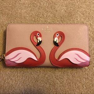 Kate Spade Flamingo Continental Wallet